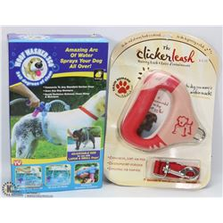 "NEW DOG ITEMS ""THE CLICKER LEASH"""