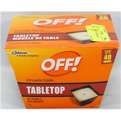 OFF TABLE TOP CITRONELLA CANDLE