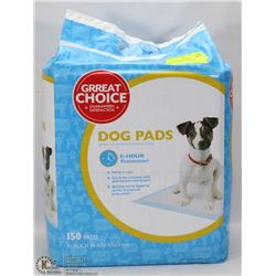 GREAT CHOICE DOG PADS 150 PADS, 8 HOUR