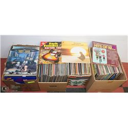 4 BOXES OF ASSORTED RECORDS