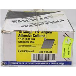 CASE OF COLLATED FINISH NAILS 15 GAUGE