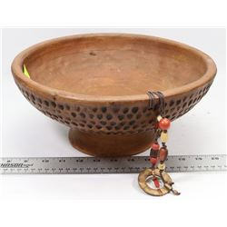 "12"" ROUND DECORATIVE POTTERY BOWL"