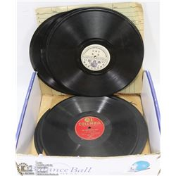 BOX OF 78 RPM RECORDS.