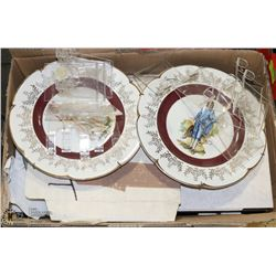 BOX OF COLLECTOR PLATES INCL HORSES.,