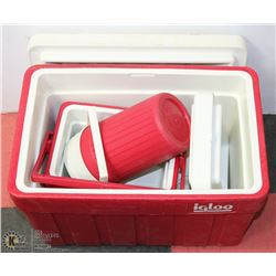 IGLOO COOLERS AND DRINK DISPENSERS
