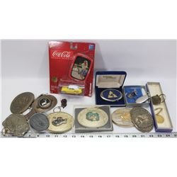 COLLECTOR BOX WITH BELT BUCKLES, COCA COLA DIE