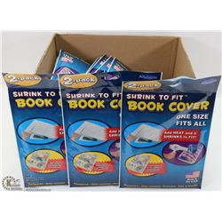 LOT OF 25 NEW PACKS OF SHRINK TO FIT BOOK COVERS