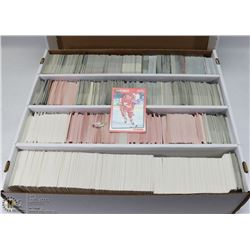 BOX OF ROUGHLY 3000 VARIOUS YEARS HOCKEY CARDS
