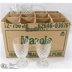 4) BOX WITH 16 MATCHING WATERFORD CUBIST