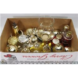 6) BOX WITH 27 AVON COLLECTIBLE CONTAINERS AND ONE
