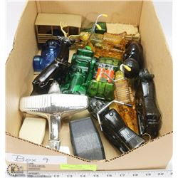 9) BOX WITH 11 AVON COLLECTIBLES IN BOXES