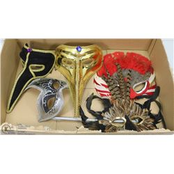 FLAT OF ASSORTED MASQUERADE MASKS