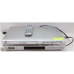 JVC DVD VHS PLAYER WITH REMOTE