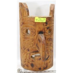 VINTAGE HAND CARVED PACIFIC NORTH WEST TOTEM MASK.