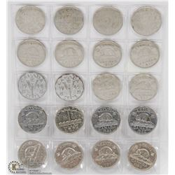 CANADIAN 20 NICKEL COLLECTION DATES RANGE FROM
