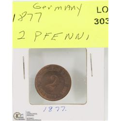 1877 GERMANY 2 PFENNI