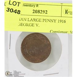 CANADIAN LARGE PENNY 1916 YEAR, GEORGE V.