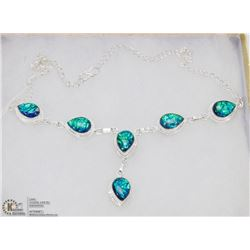 #40-AUSTRALIAN TRIPLE OPAL GEMSTONE NECKLACE