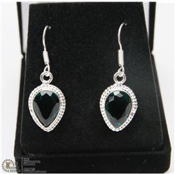 #60-CHROME DIOPSIDE GEMSTONE EARRINGS