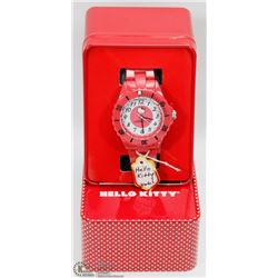 #3) HELLO KITTY WATCH RED STRAP GIRLS