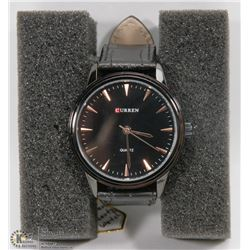 #6) CURREN WATCH GENUINE BLACK STRAP