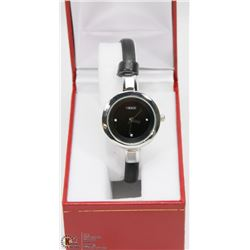 #4) KEZZI LADIES BLACK STRAP WATCH