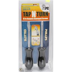 NEW 2PC TAP N' TURN DAMAGED SCREW REMOVER