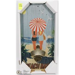 NEW BEACH BAR WALL MOUNTABLE BOTTLE OPENER