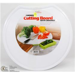 NEW HANDY GOURMET CORNER CUTTING BOARD WITH