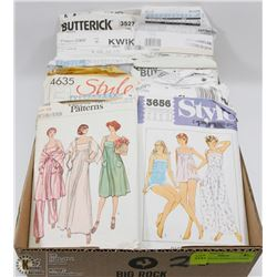 FLAT VINTAGE SEWING PATTERNS
