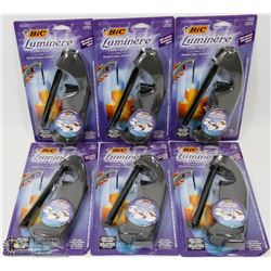 LOT OF 6PC BIC LUMINERE CANDLE LIGHTER