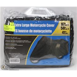 XLARGE NYLON MOTORCYCLE COVER WITH STORAGE