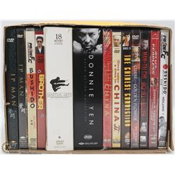 BOX W/ MARTIAL ARTS / ASIAN DVD & COLLECTOR SETS