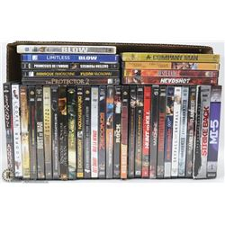BOX W/ 36 ACTION DVDS