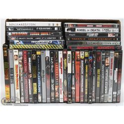 BOX W/ 39 ACTION DVDS