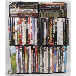 FLAT OF 65 PLUS ASSORTED DVD'S