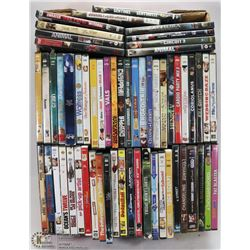 FLAT WITH  55 PLUS ASSORTED DVDS
