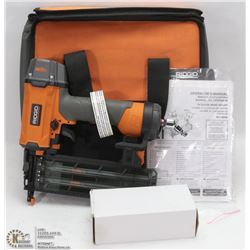 NEW RIDGID PNEUMATIC 18 GAUGE BRAD NAILER W/ CASE