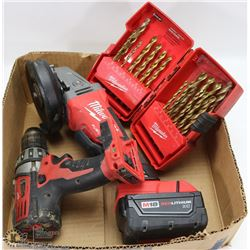 MILWAUKEE FUEL M18 RED LITHIUM CORDLESS GRINDER