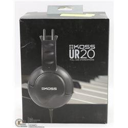 NEW KOSS UR20 FULL SIZE STEREOPHONE HEADPHONES