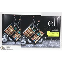 2 OF E.L.F. 48 COLOR EYESHADOW PALETTES WITH
