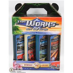 NEW THE WORKS SURF CITY 4PC CAR WASH KIT