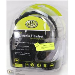 UNIVERSAL MULTIMEDIA HEADSET W/ MICROPHONE