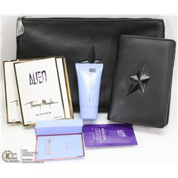 NEW THIERRY MUGLER COSMETIC BAG, PASSPORT