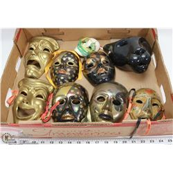 FLAT OF ASSORTED DECORATIVE MASKS