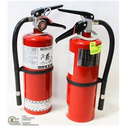 LOT OF TWO 5LB FIRE EXTINGUISHERS