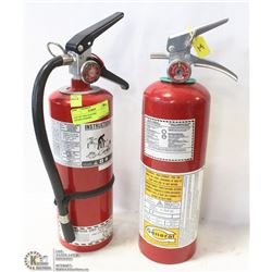 LOT OF TWO 5LB FIRE EXTINGUISHERS.