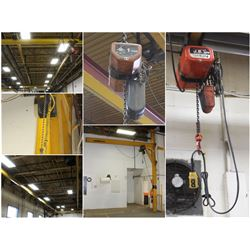 FEATURED ITEMS: CEILING MOUNTED CHAIN HOIST CRANES