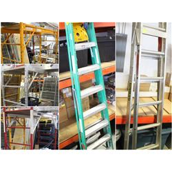 FEATURED ITEMS: LARGE ASSORTMENT OF LADDERS AND SCAFFOLDS