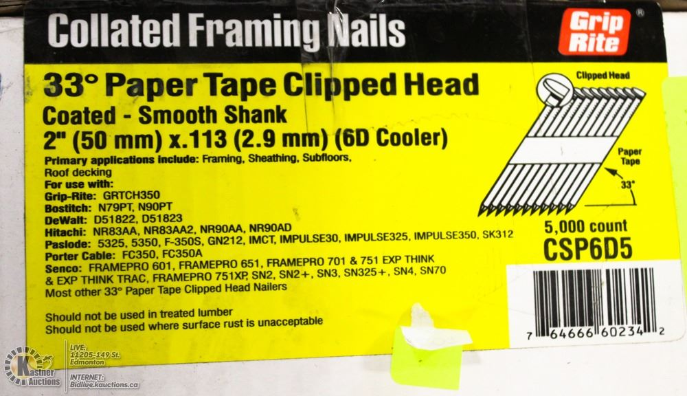Old Fashioned Grip Rite Collated Framing Nails Frieze - Custom ...